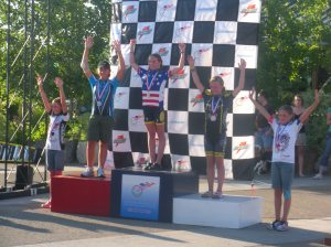 Podium for the Road Race
